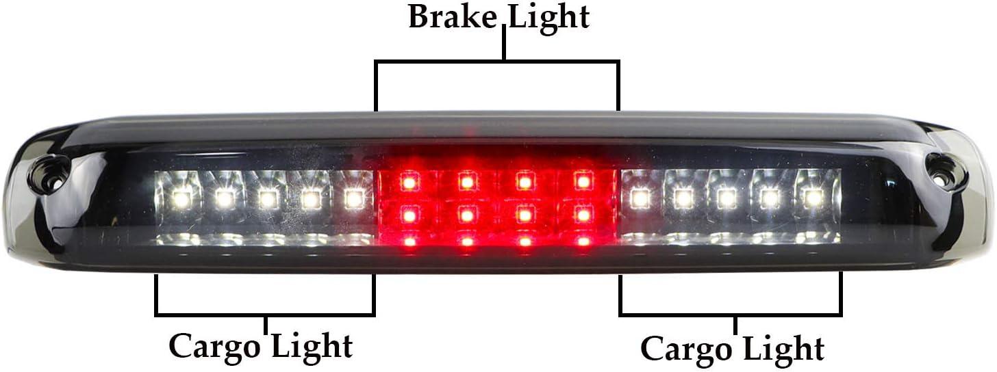 Sanzitop LED 3rd Brake Light Rear Tail Brake Light Waterproof High Mount Brake Light Fit 1999-2006 Chevy Silverado//GMC Sierra 1500 2500HD 3500 5978318 923240 Black Housing Smoke Lens