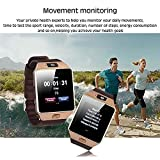 Sazooy DZ09 Bluetooth Smart Watch Touch Screen Smart Wrist Watch Phone Support SIM TF Card With Camera Pedometer Activity Tracker for Iphone IOS Samsung Android Smartphones