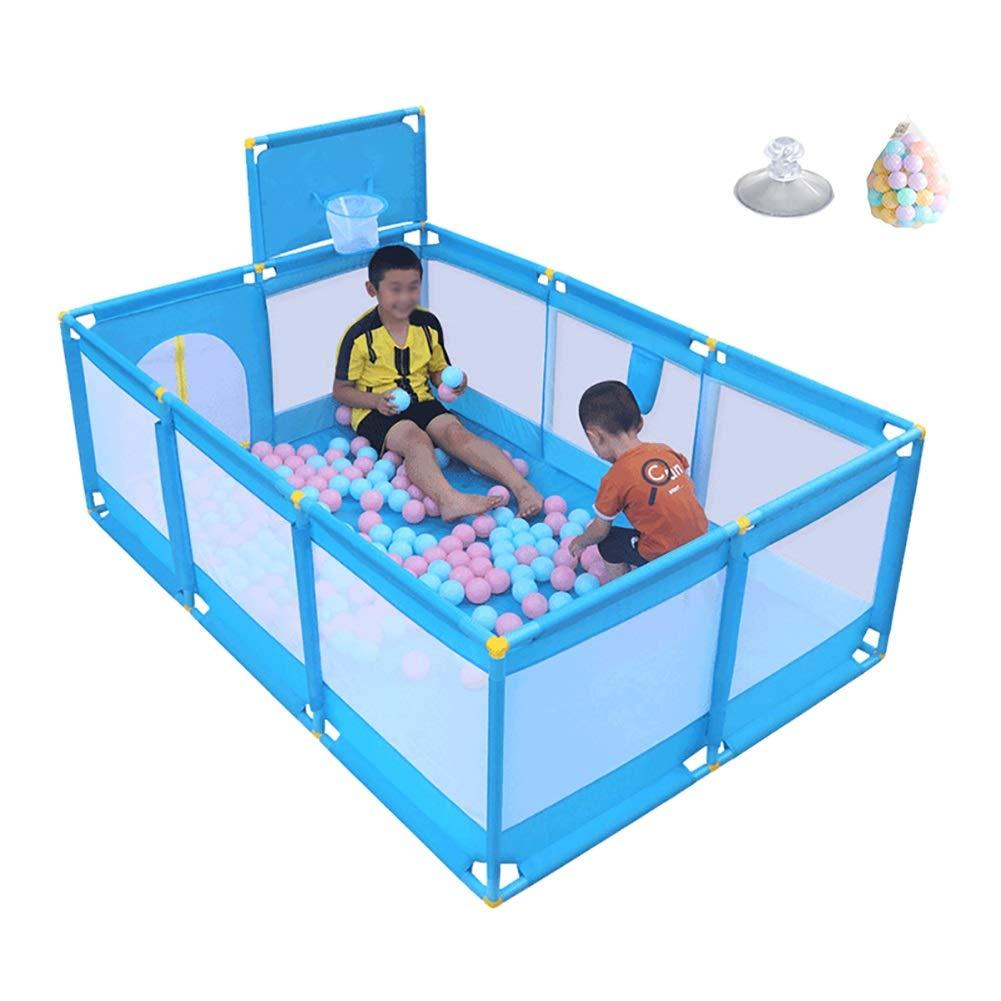 子供の遊び場のボール青い幼児の遊び場とバスケットボールのフープとドアのアクティビティセンタープレイヤー   B019OI66SS