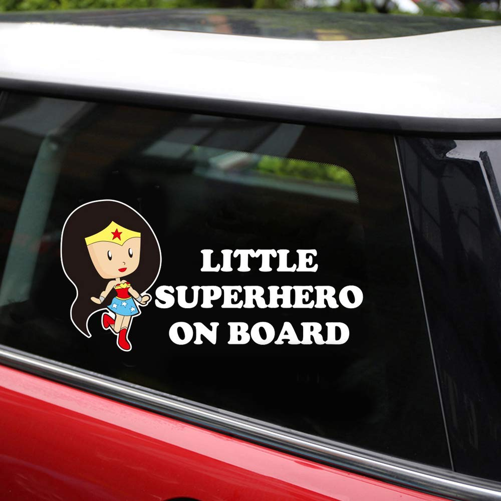 Amazon com little superhero baby on board stickers reflective car stickers and decals car styling door body window vinyl stickers for car decoration car