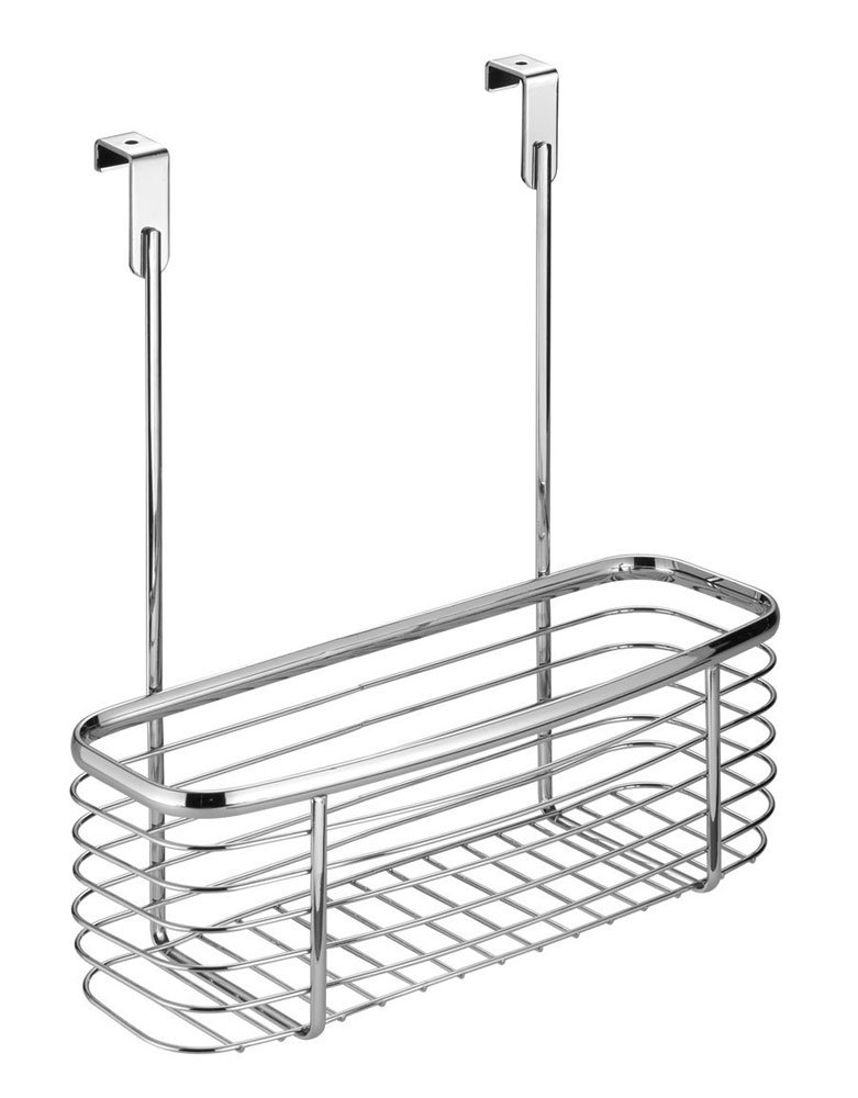 MD Group Axis Chrome Over Cabinet Storage Basket, 12'' x 4'' from Door x 4.5 lbs