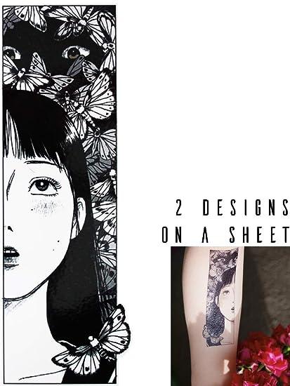 Novu Ink - Tatuajes temporales para niña con diseño de hombre de ...
