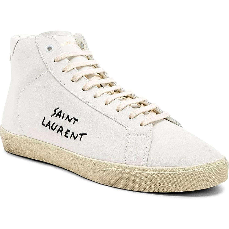 (イヴ サンローラン) Saint Laurent メンズ シューズ靴 スニーカー Suede SL/06 Signature Mid-Tops [並行輸入品] B07F7BSFP8