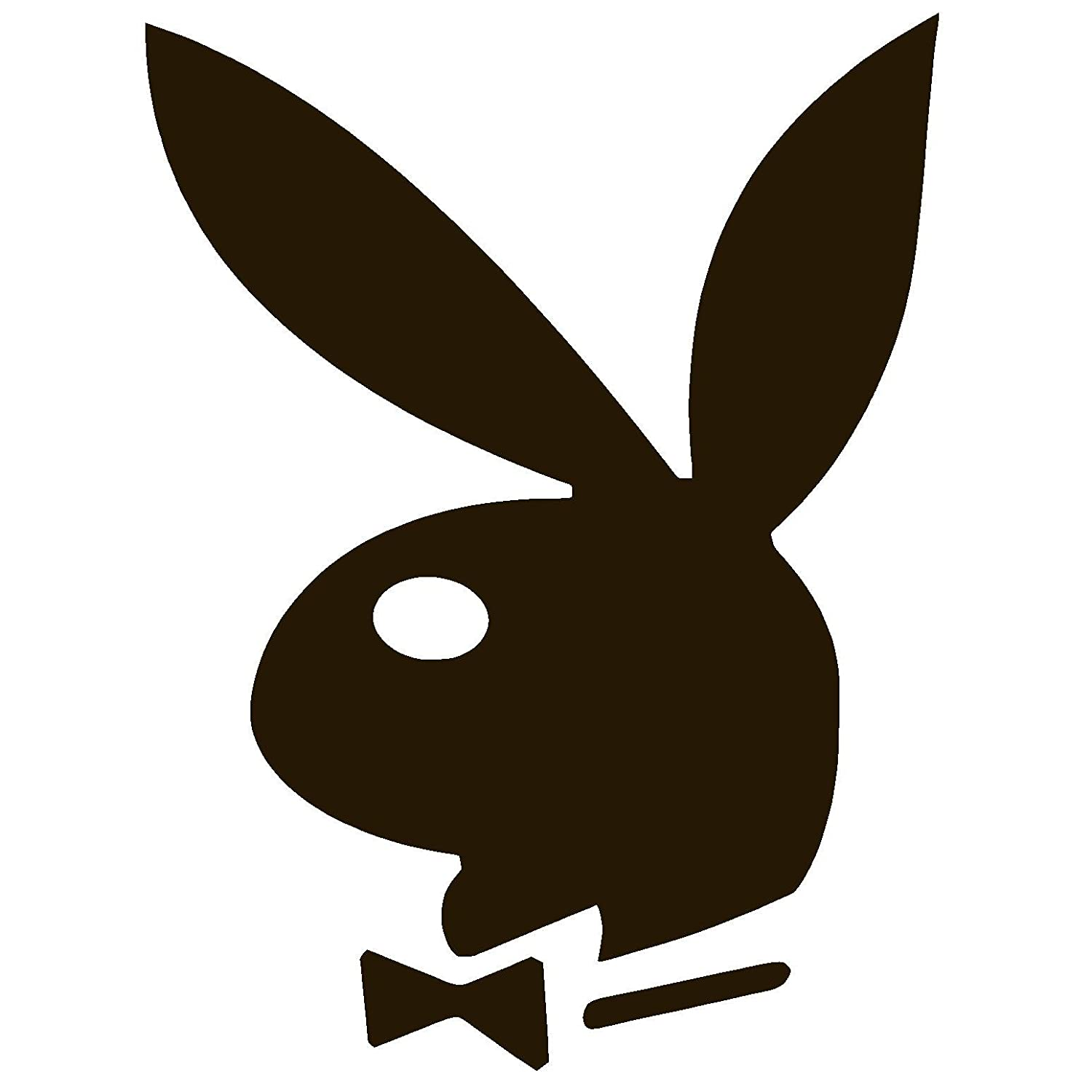 Amazon com playboy bunny vinyl sticker decal 9 x 12 white automotive