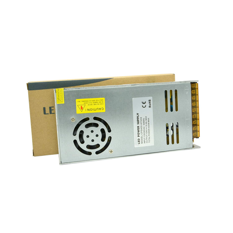 Dapenk Led Strip Streifen Netzteil 24v Volt Trafo Stripes Beleuchtung Treiber Dc Streifen Adapter 350w Ultrad/ünner Aluminium-Innenraum mit Mesh CPS-Reihe CPS350-H1V24