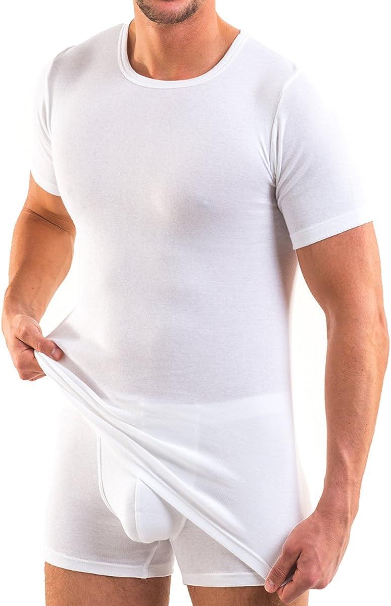 HERMKO 93840 Lot de 2 tee-shirt en coton bio pour homme