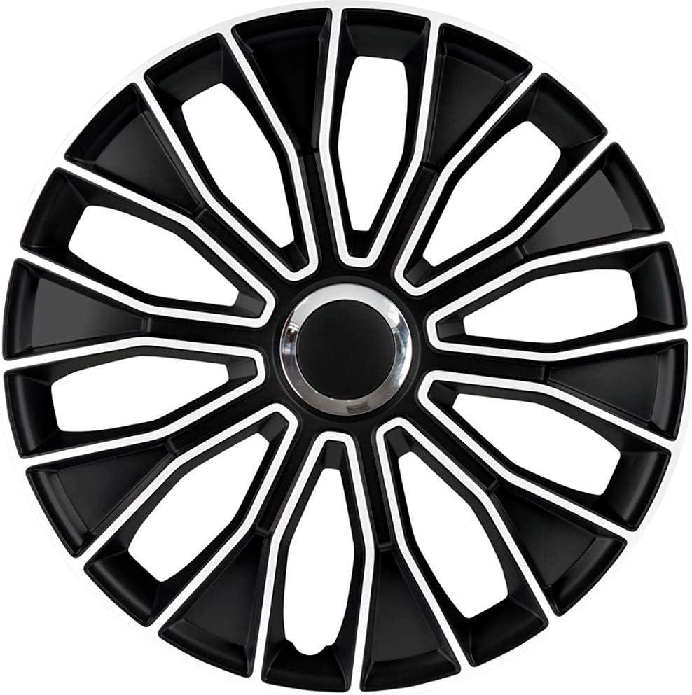AUTOSTYLE PP 5215 Voltec Pro Set de tapacubos, 15 Pulgadas, Color Negro y Blanco: Amazon.es: Coche y moto