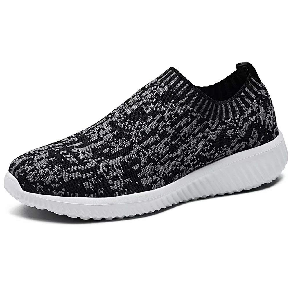 LANCROP Women's Comfortable Walking Shoes - Lightweight Mesh Slip On Athletic Sneakers