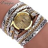 Binmer(TM) Women Leather Band Wrap Around Analog Quartz Bracelet Wrist Watch Wristwatch