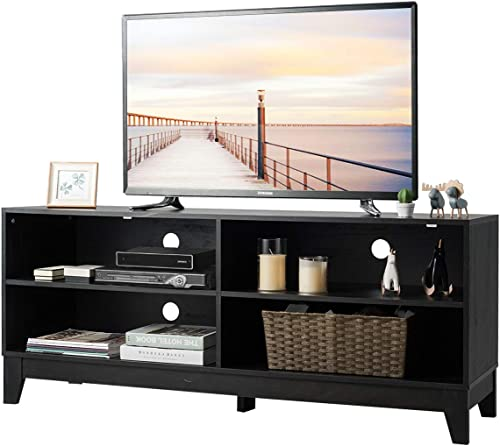Tangkula Farmhouse Wood Universal TV Stand
