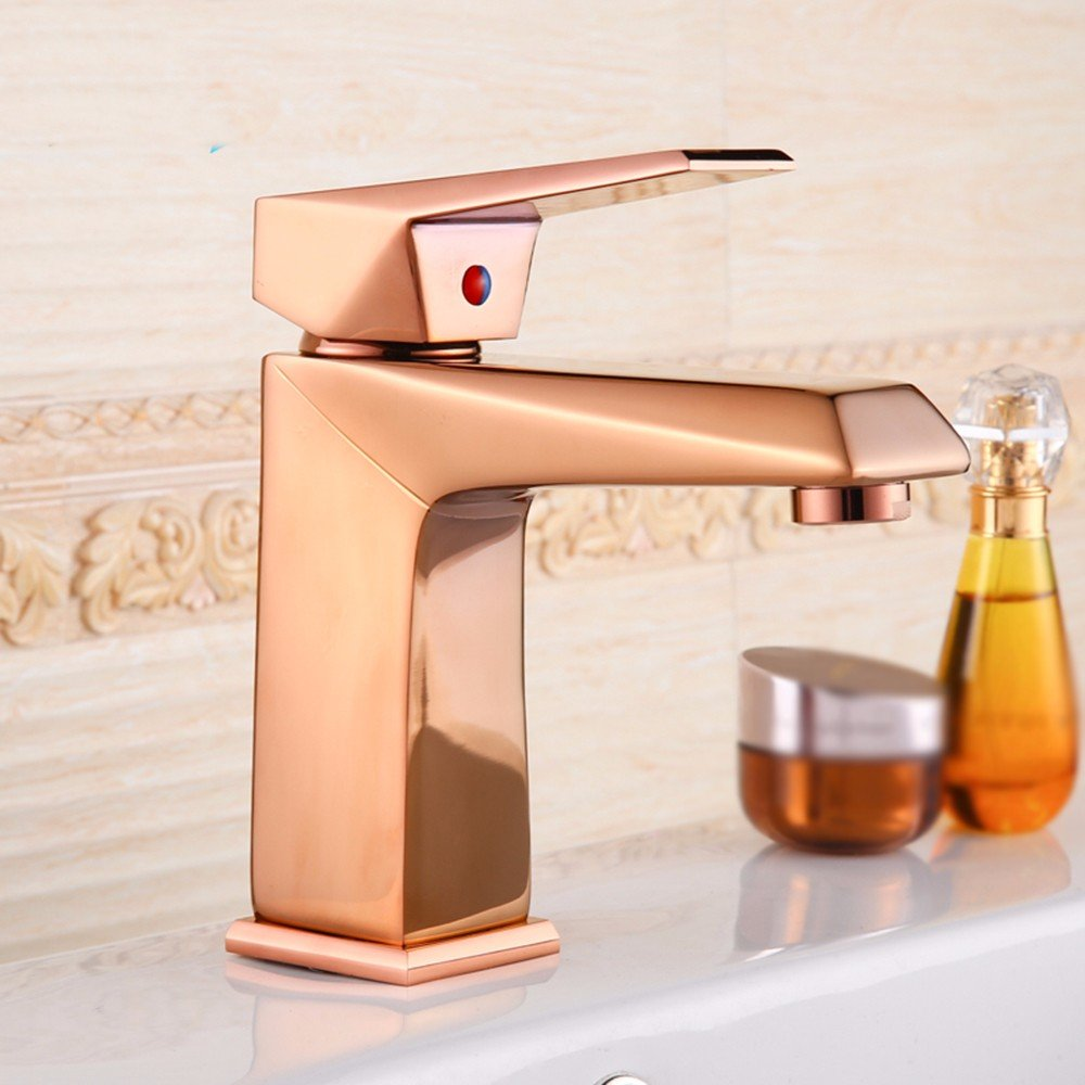 AWXJX European style copper hot and cold bath wash your face gold plated Sink mixer
