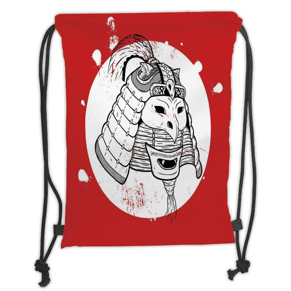 Mochilas con cordón personalizable, decoración de máscara de Kabuki ...