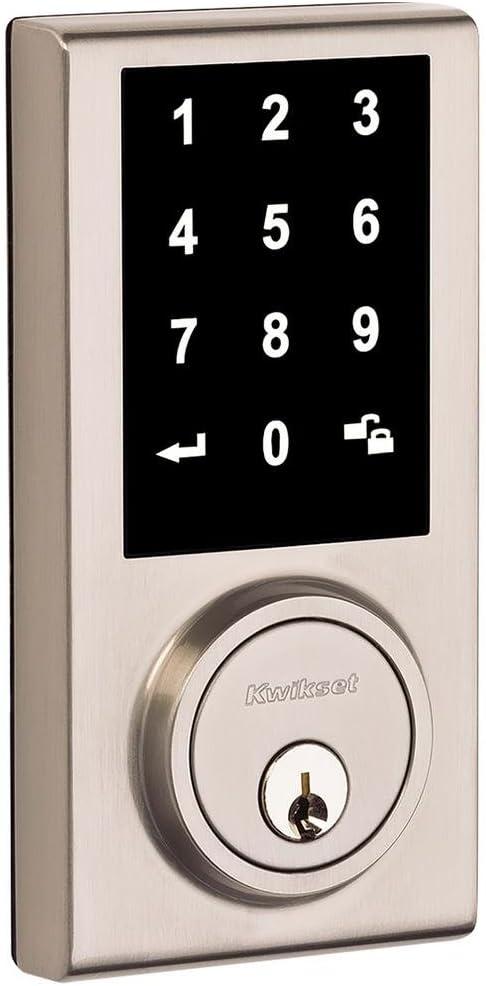 kwikset Electronic Deadbolt Keyless Entry Nickel Touch Screen