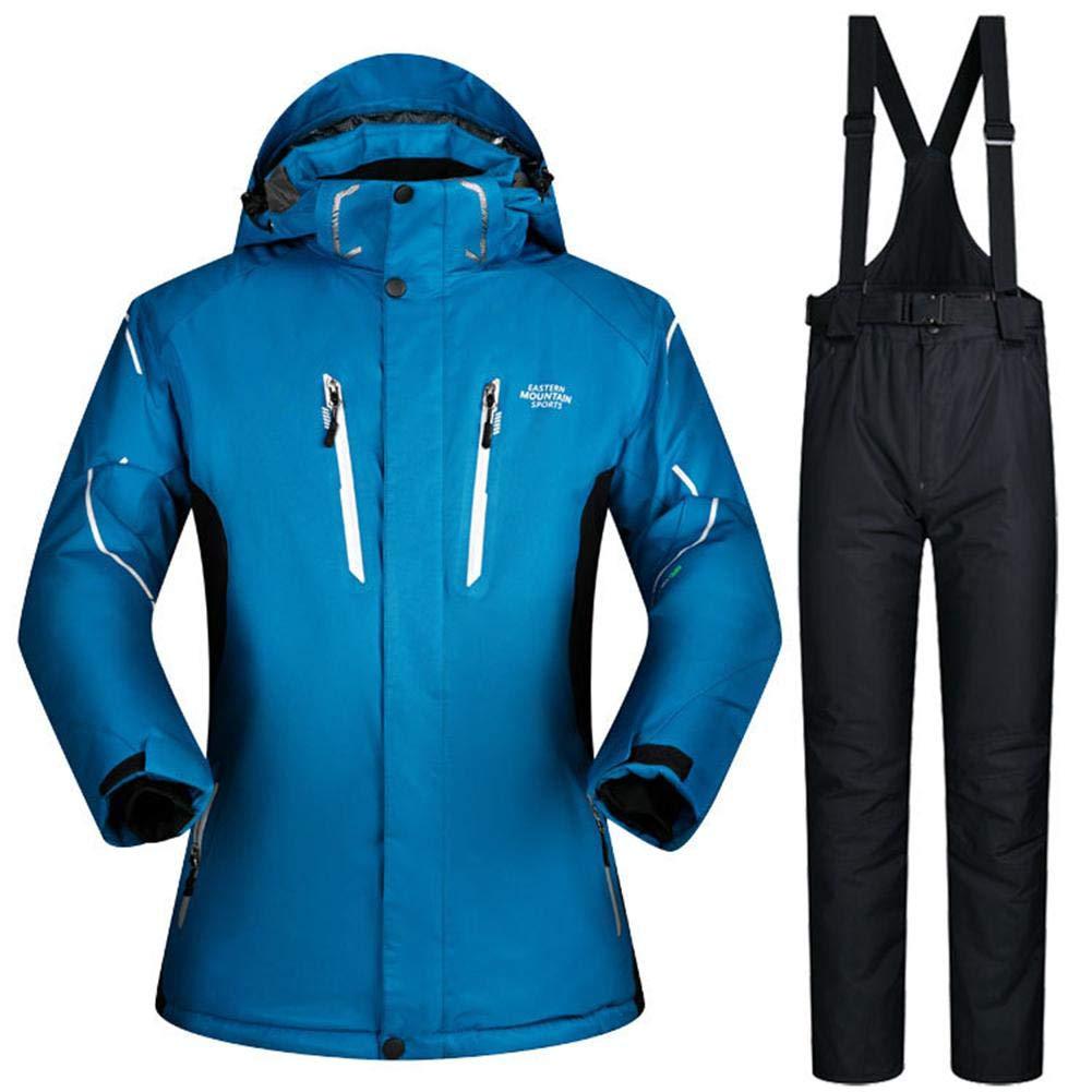 Bleu clair L Hook.s Pantalon de Ski + Bretelles de Ski pour Hommes