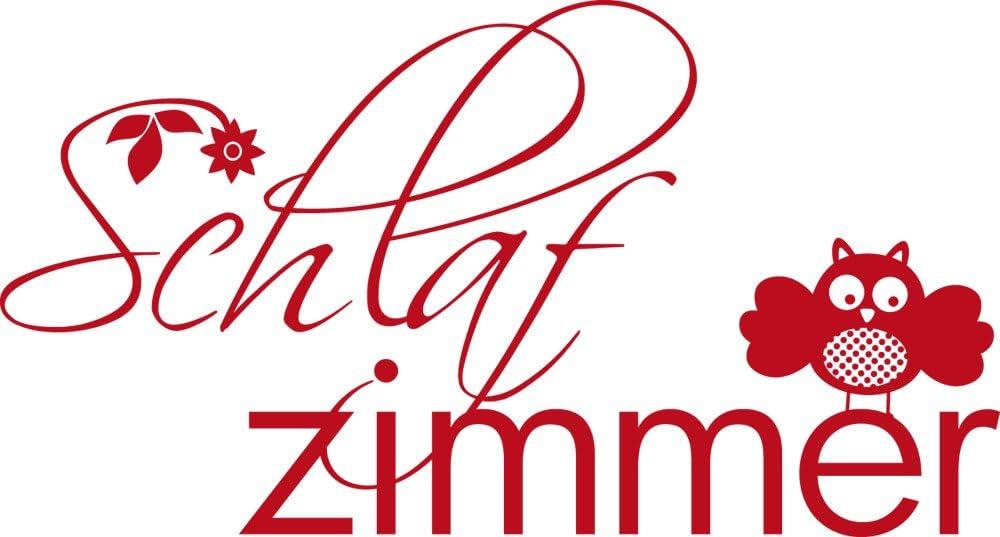 31x57cm////010 Weiss GRAZDesign 780082/_57x31/_010 T/ür-Aufkleber Schlafzimmer Eule Blumen