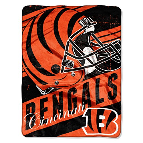 Bengal Blanket - The Northwest Company NFL Cincinnati Bengals Deep Slant Micro-Raschel Throw, Orange, 46 x 60-Inch