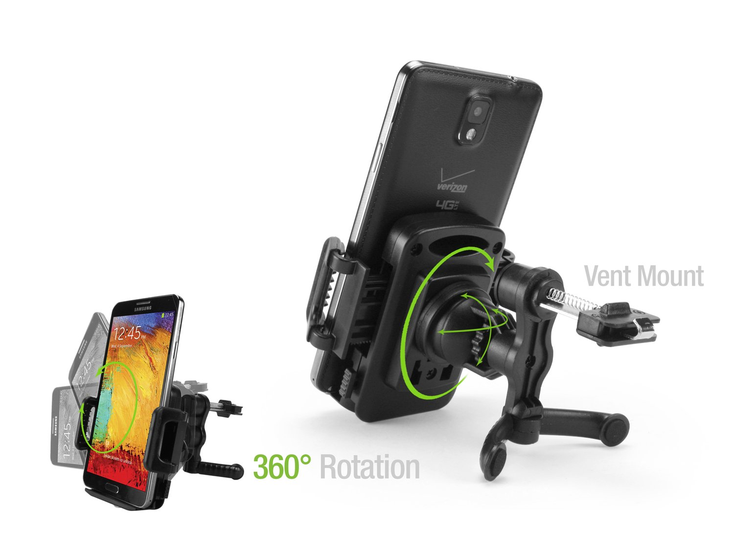 Cellet Air Vent Phone Holder Mount 6//6 Plus 5//5s//5c,etc Universal Cell Phone Car Mount for Samsung Galaxy S8//S8 Plus S7 S6 S5 Note 8//5 iPhone X//8//8 Plus and more PHEVENT258