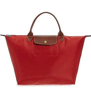 Longchamp Pliages Red Rouge Medium Tote Bag Purse: Handbags ...