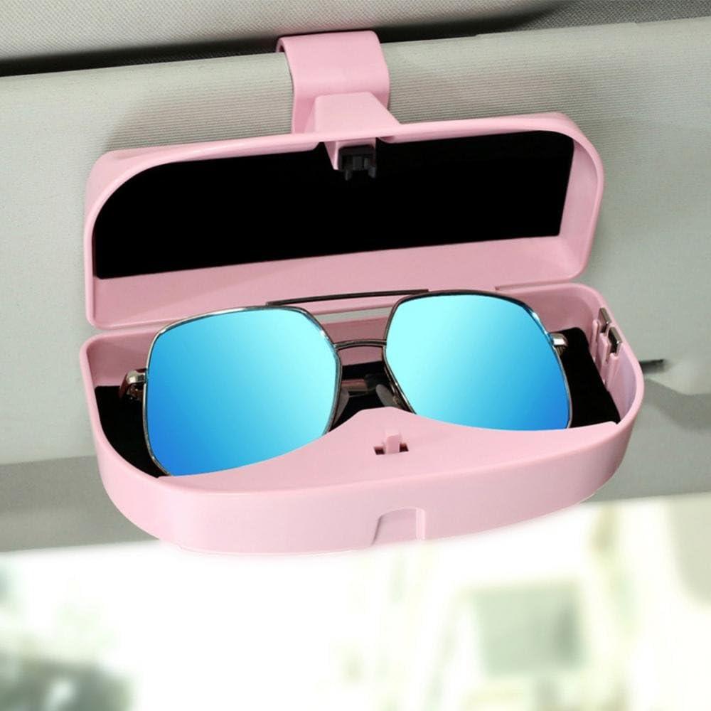 Schwarz Akozon Auto vielseitige Sonnenbrille Lagerung Inhaber Clip Case Organizer Box Universal Auto Brillen Box