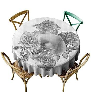 Amazon.com: Fashions Table Cloth Grey Decor Monochrome ...