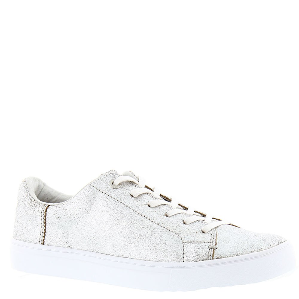 TOMS Women's Lenox Sneaker Silver Metallic Leather Oxford by TOMS (Image #1)