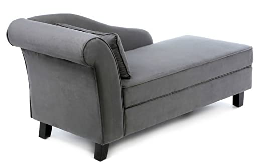 office chaise lounge chair. Amazon.com: Storage Chaise Lounge Chair -This Microfiber Upholstered Lounger Is Perfect For Your Home Or Office - Put This Accent Sofa Furniture In The