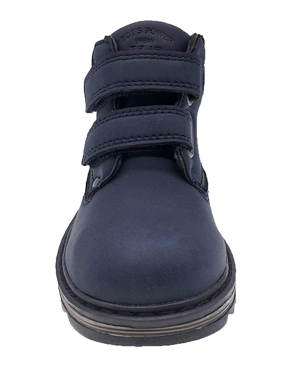 TZJS Kids/' Hiking Boots for Boys Girls Waterproof Outdoor Ankle Boots with Hook and Loop
