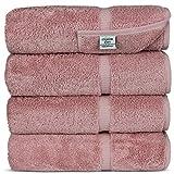 Luxury Hotel & Spa Bath Towel Turkish Cotton, Set of 4, Pink Deal