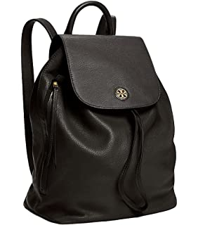 7b235574b907 Amazon.com  Tory Burch Leather Backpack (Black)  Shoes