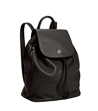 49de4b4155ab Tory Burch Brody Leather Backpack (Black)