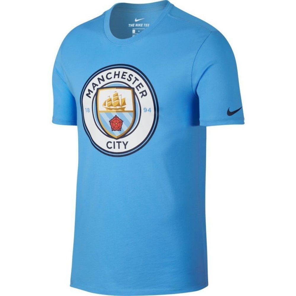 Nike MCFC M NK Evergreen Crest T-Shirt Manchester City FC, Herren