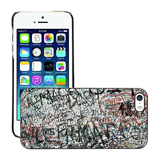 Premio Sottile Slim Cassa Custodia Case Cover Shell // V00002273 Graffiti wall // Apple iPhone 5 5S 5G