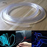 Rayauto 3.0mm Plastic Skirt Side Glow Optic Fiber Cable Car Light Decor (Length:5meters/16ft)