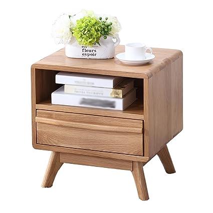 Amazon.com: PM-Nightstands Bedside Cabinet Solid Wood Locker Bedroom ...