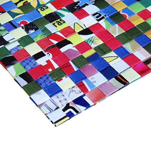 Set of 5 placemats made of woven banner - Free shipping - home decoration interior design banners billboard Fair trade ethical fun present presents cute finds inspiring alternative ideas functional by Upcycling by Milo