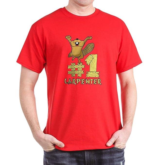 189456e89 Amazon.com: CafePress Number One Carpenter 100% Cotton T-Shirt Red ...