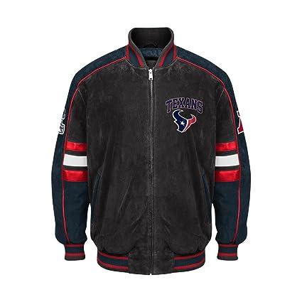 competitive price d185f a36dc Amazon.com : Houston Texans Jacket Suede Leather NFL Texans ...