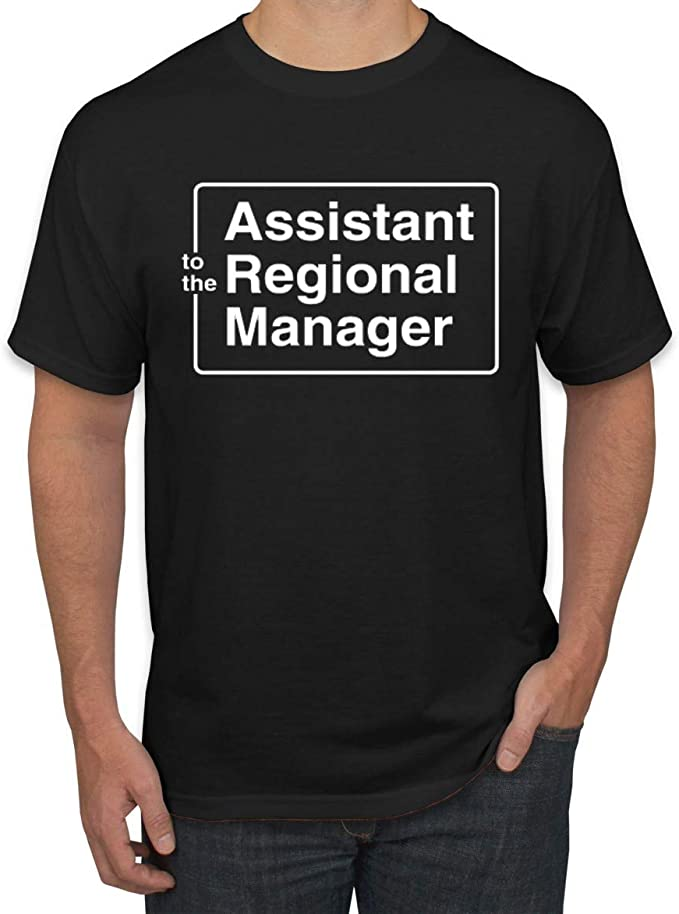 Wild Bobby Assistant to The Regional Manager - Camiseta para hombre - Negro - Small: Amazon.es: Ropa y accesorios