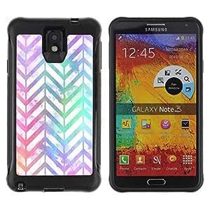 Suave TPU GEL Carcasa Funda Silicona Blando Estuche Caso de protección (para) Samsung Note 3 / CECELL Phone case / / chevron pattern iridescent white purple /