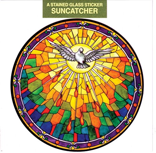 Window Spirit (Holy Spirit Window Decal, Reusable Vinyl Suncatcher, Stained Glass Design)
