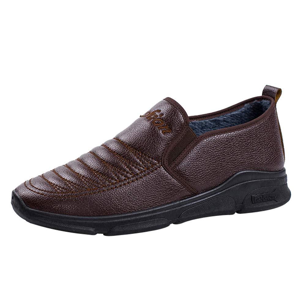 LuckyGirls Zapatos De Cuero para Hombre Calzado con Pelo por Dentro Zapatos Planos Casual Mocasines Zapatos Formales del Negocio: Amazon.es: Deportes y aire ...