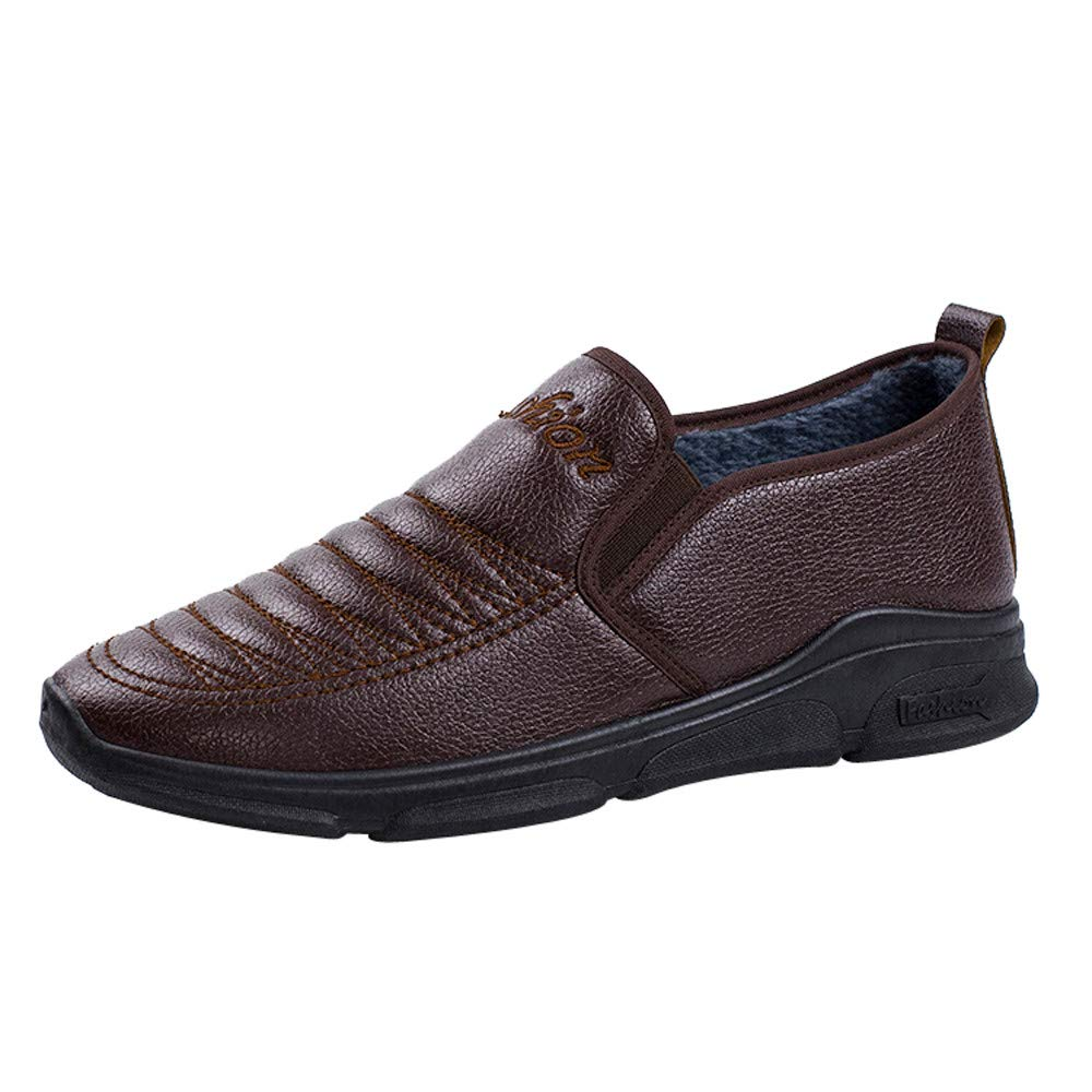 Respctful ◉Oxford Shoes Men Bussiness Formal Shoes for Man, Brown Slip On Shoes Casual Shoes Men