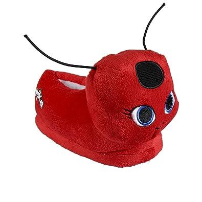 MIRACULOUS LADYBUG Chaussons peluche 3D - Fille - Rouge VMtWPi74