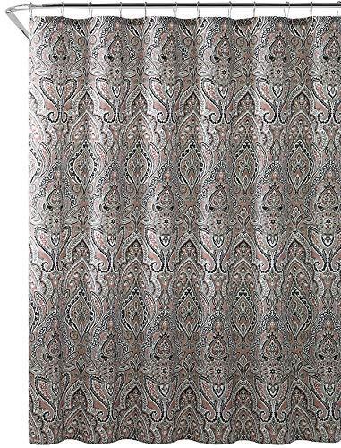 Amazon Hudson Essex Brown Beige Cloth Fabric Shower Curtain