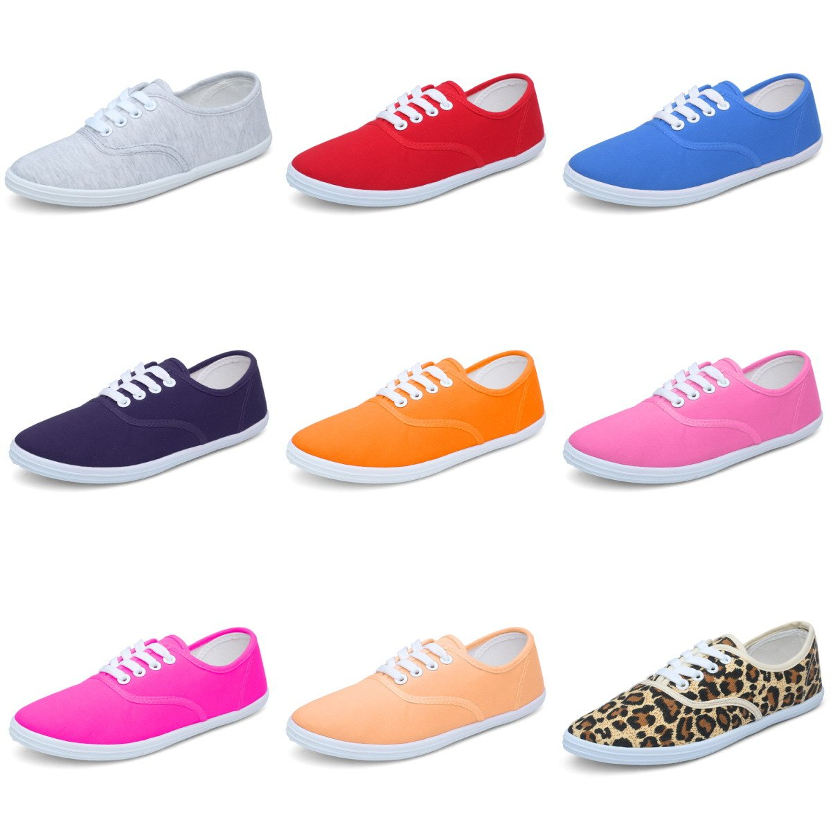 CIOR Women Lace up Canvas Shoes Casual Round Tote Classic Sneakers Original Lightweight Soft,VFB01,F.Grey,36 by CIOR (Image #1)