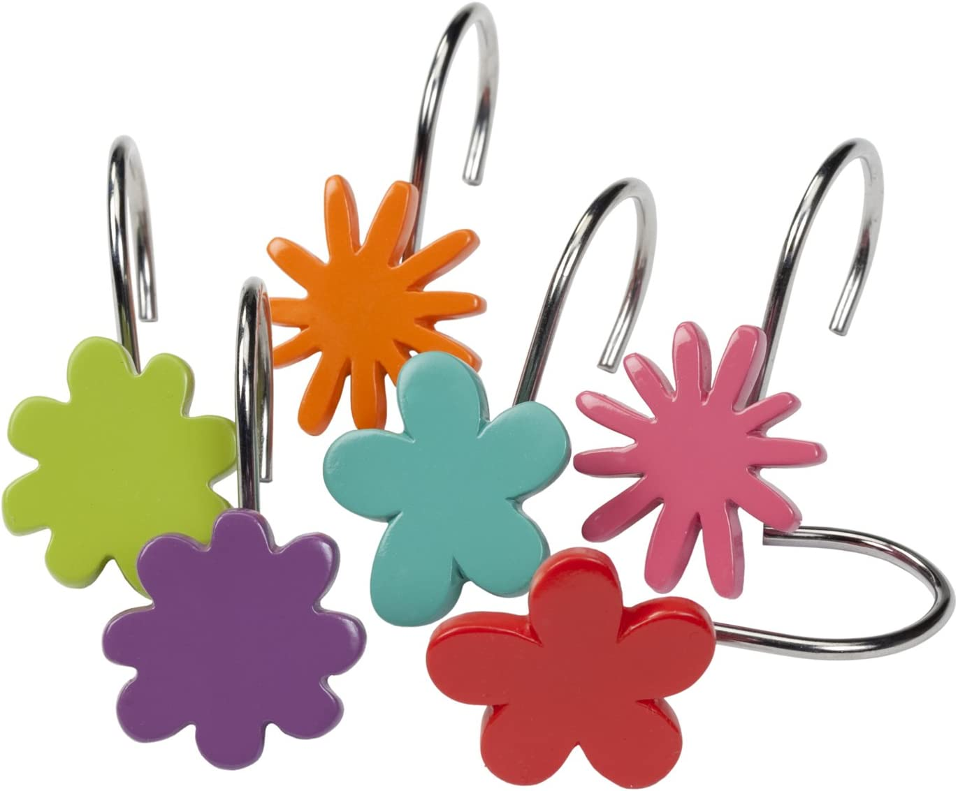 Creative Bath Products All That Jazz Shower Hooks 12-Pack