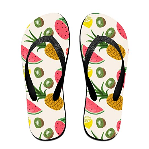 Palm Tree Flamingo And Pineapple Unisex Fashion Beach Slipper Indoor And Outdoor Classical Flip-flop Thong Sandals