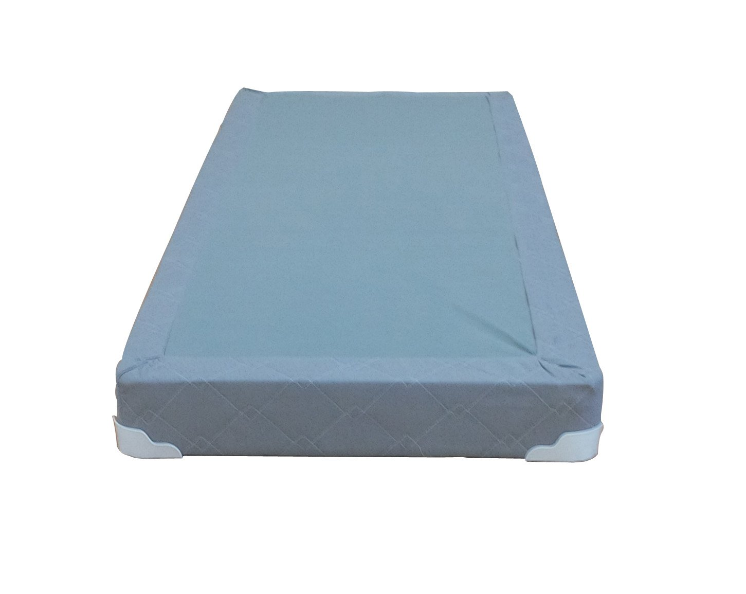 Continental Sleep Memory Foam Gel 5-Inch Split Box Spring Fabric Stretch Knit, Full, Grey by Comfort Bedding