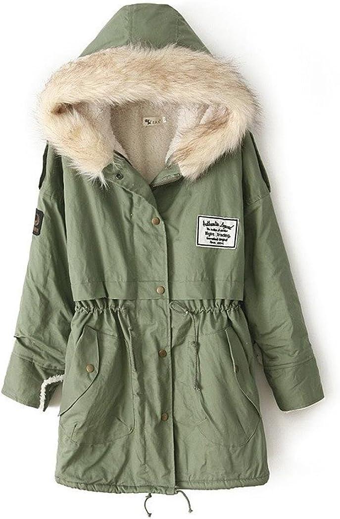 Zeagoo Damen Winter Hoodie Fleece Jacke gepolsterte Jacke Kapuzenjacke Wintermantel