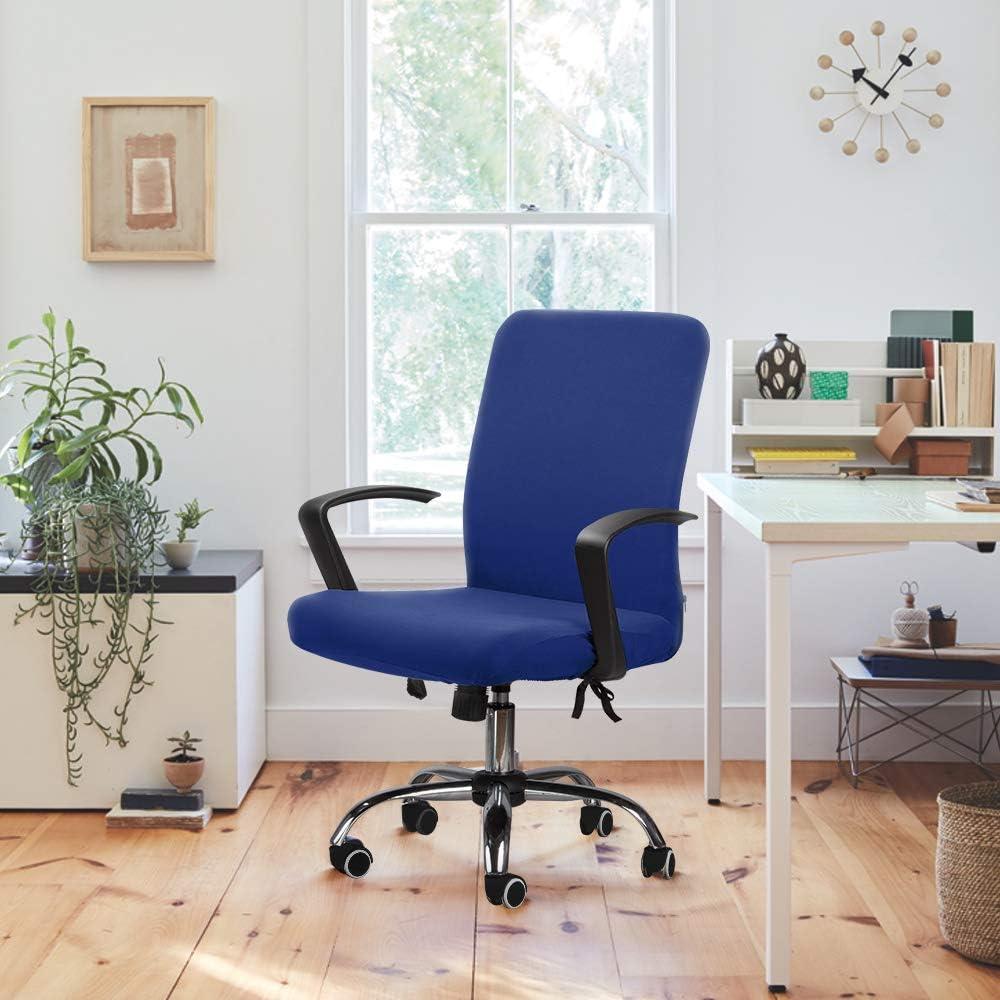 Bleu, M Housse pour Chaise de Bureau Housse de fauteuil rotatif